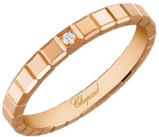 Chopard Yellow Gold and Diamond Ice Cube Pure Ring