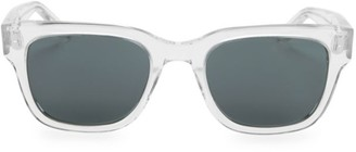 Barton Perreira Stax Crystal 50mm Square Sunglasses