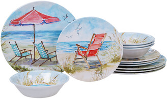 Certified International Melanine Ocean View 12Pc Dinnerware Set