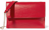 Lanvin Sugar Mini Quilted Leather Shoulder Bag - Crimson