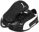 Puma Kids - Fast Cat Jr (Toddler/Youth) (Black/White 2) - Footwear