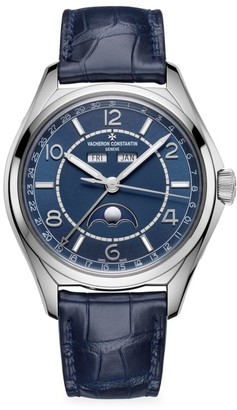 Vacheron Constantin Fiftysix Stainless Steel & Alligator Strap Complete-Calendar Watch