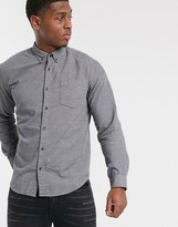 Esprit organic shirt in cord in gray
