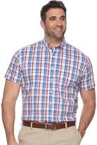 Dockers Big & Tall Classic-Fit Plaid Comfort Stretch No-Wrinkle Button-Down Shirt