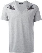 Alexander McQueen bird print T-shirt - men - Cotton - M