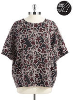 Lord & Taylor Petite Floral Dolman Sleeved Top