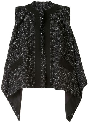 Sacai Tweed Draped Blouse