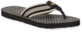 Tory Burch Gemini Link Thin Flip-Flop Sandals