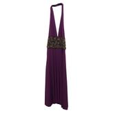 Max Mara Halter purple dress