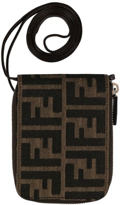 Fendi Pre-Owned Zucca pattern wallet on strap