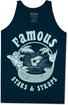 Famous Stars & Straps Men's Mermaid Graphic-Print Logo Cotton Tank