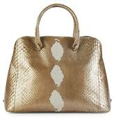 Thumbnail for your product : Nancy Gonzalez Medium Wallis Sequined Python Top Handle Bag