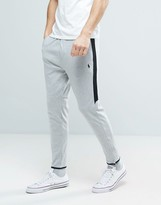Polo Ralph Lauren Slim Fit Tapered Jogger With Zip Hem In Grey