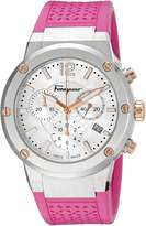 Salvatore Ferragamo Women's FIH020015 F-80 Chrono Analog Display Quartz Pink Watch