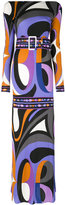 Emilio Pucci psychedelic print belted gown