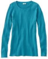 L.L. Bean Classic Cable Sweater, Jewelneck