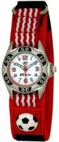 Ravel Children's Football Watch on Easy Fasten Strap - Red and White