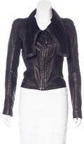 Skingraft Mock Neck Leather Jacket