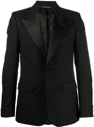 Givenchy Logo Pattern Peaked Blazer