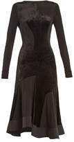 Esteban Cortazar Crew-neck velvet dress