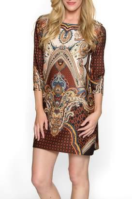 Isle Apparel Bohemian Pattern Dress