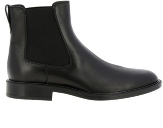 Tod's Tods Boots Tods Ankle Boots In Smooth Leather With Elastic Bands And Rubber Sole
