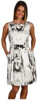 Eliza J Jacquard Tulip Dress (Silver) - Apparel