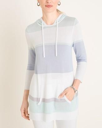 Zenergy Striped Hooded Pullover