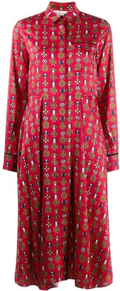 Mulberry Teri Medallion Twill dress