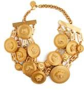Versace Gold Medusa embellished choker