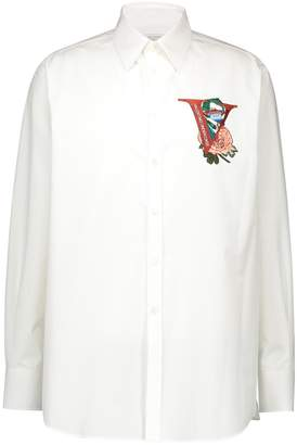 Valentino Shirt with V Face Rose embroidery