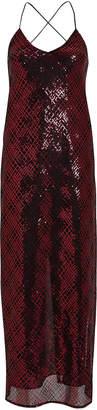 Mason by Michelle Mason Sequin Embellished Mesh Slip Dress