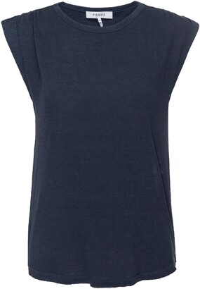 Frame Slouchy Organic Linen Sleeveless Top