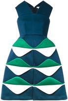 DELPOZO structured jacquard dress