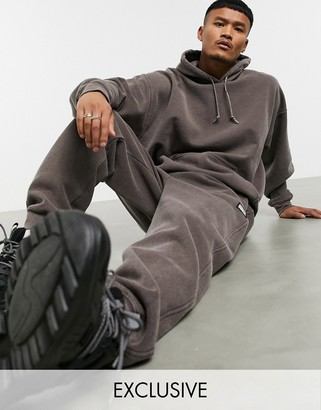 Reclaimed Vintage overdye joggers in brown