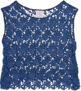 Stella Jean Cropped acramé lace top