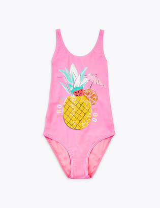 Marks and Spencer Pineapple Sequin Swimsuit (6-16 Yrs)