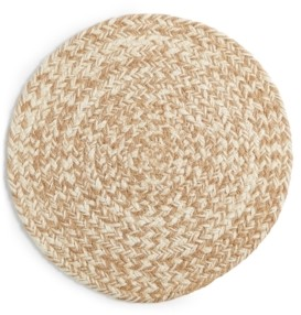 Lucky Brand Tan Chevron Round Placemat, Created for Macy's