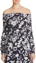 Lafayette 148 New York Raelyn Floral Off The Shoulder Blouse
