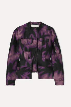 Marques Almeida Marques' Almeida - Frayed Printed Brocade Jacket - Purple