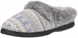 Dearfoams Women's Wide Width Knit Clog Slipper