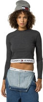 Tommy Hilfiger Tommy Jeans Cropped Long-Sleeve Tee