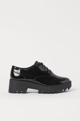 H&M Patent platform Derby shoes