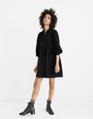 Madewell Denim Babydoll Shirtdress in Washed Black