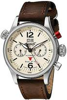 Ingersoll Unisex Automatic Watch with White Dial Analogue Display and Brown Leather Strap IN3225CR