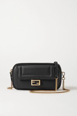 Fendi Easy 2 Baguette Leather Shoulder Bag - Black