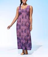 Purple Geometric Sofia Cover-Up - Plus Too
