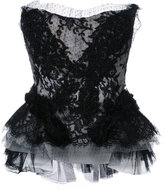 Trash Couture strapless lace beaded corset