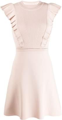 Sandro Paris ruffled sleeveless dress