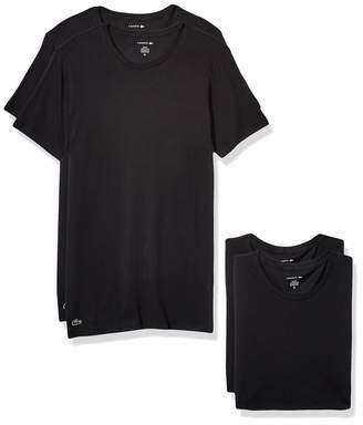 Lacoste Men's Cotton Stretch Slim Fit Crew Neck T-Shirt 3 Pack